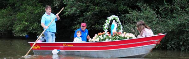 Nossa Senhora dos Navegantes foi recebida às margens do Rio Jacuí