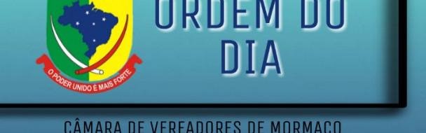 – ORDEM DO DIA SESSÃO ORDINÁRIA DE 17-12-2019 –