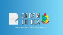 – ORDEM DO DIA SESSÃO ORDINÁRIA DE 19-05-2020 –