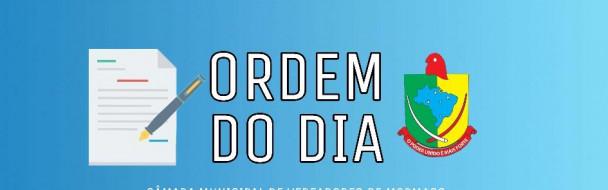 – ORDEM DO DIA SESSÃO ORDINÁRIA DE 07-07-2020 –